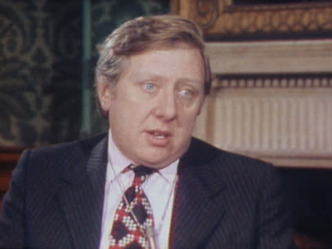 london: int roy hattersley interview sof. - on what action the government is taking in the cod war - itv news at one stock videos & royalty-free footage