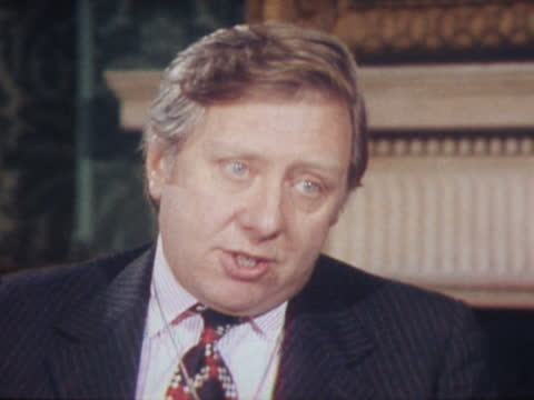 london: int roy hattersley interview sof. - on what action the government is taking in the cod war video ob: 85878 - itv news at one stock videos & royalty-free footage