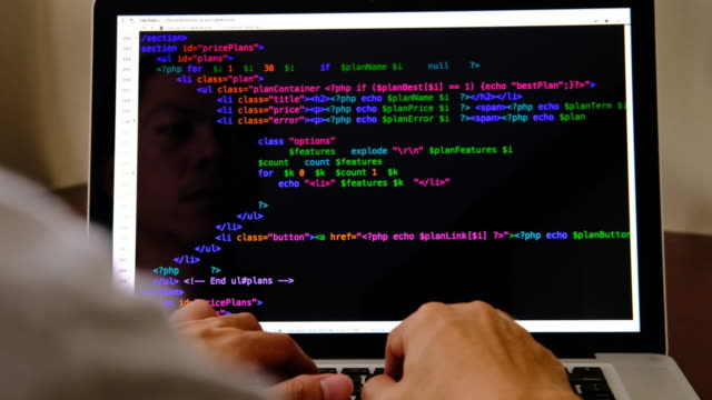 code programming - typing stock videos & royalty-free footage