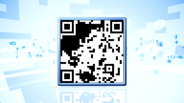 qr code worldwide - market retail space stock videos and b-roll footage