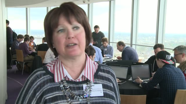 codebreakers take part in cyber security exercise stephanie daman interview sot - security code stock videos and b-roll footage