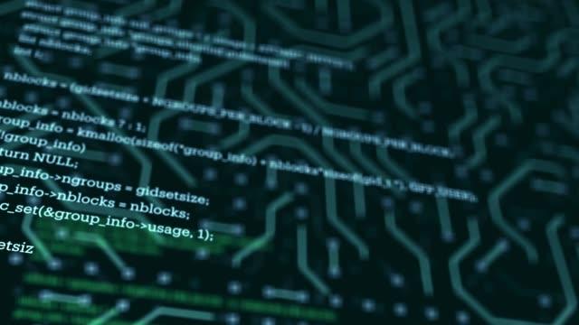 vídeos de stock e filmes b-roll de coding, network security, cyber security, digital protection, computer hack background - classificados