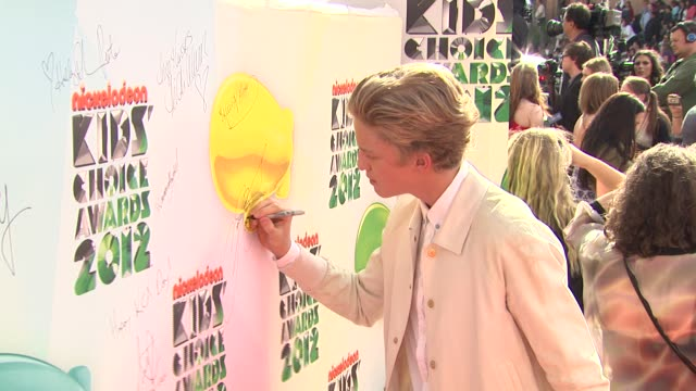 Cody Simpson at Nickelodeon's 25th Annual Kids' Choice Awards on 3/31/2012 in Los Angeles CA
