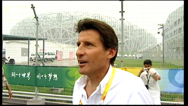 day coe interview sot on london having to live up to the beijing 2008 olympic opening ceremony inspirational will be different - cerimonia d'apertura video stock e b–roll