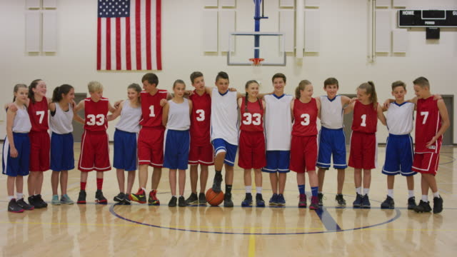 Coed middelbare school basketbal teams