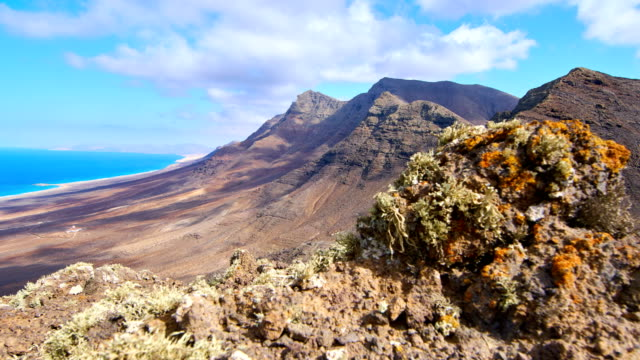 Cofete mountains Time Lapse video, Fuerteventura