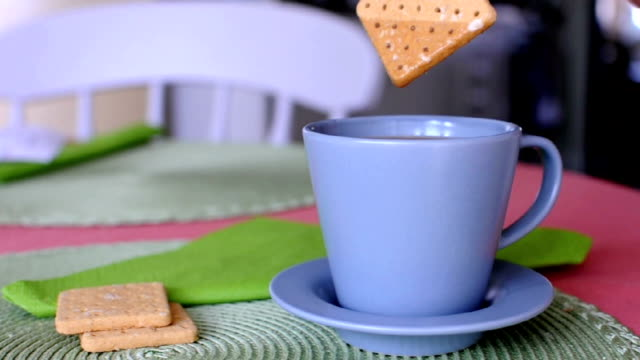 coffee and crackers - dipping stock videos & royalty-free footage