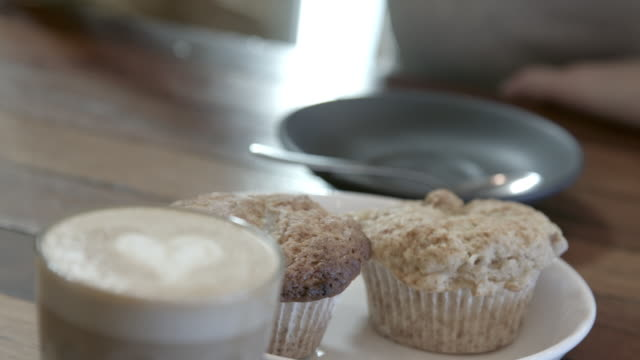 coffee and muffins - muffin stock videos and b-roll footage