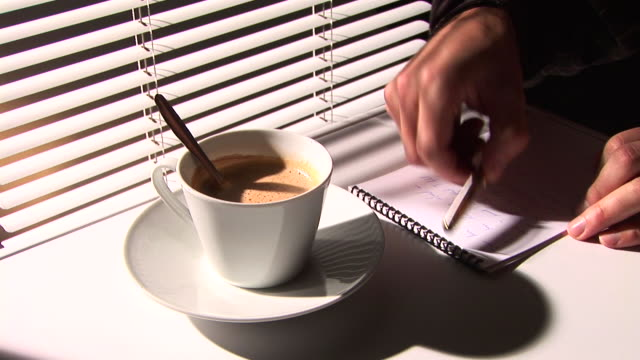 hd :コーヒーでの作業 - カプチーノ点の映像素材/bロール