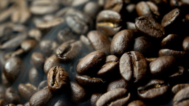 coffee bean with smoke - caffeine molecule stock videos & royalty-free footage