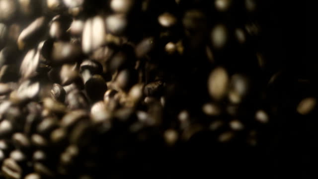 vídeos y material grabado en eventos de stock de granos de café primer plano - grano de café tostado