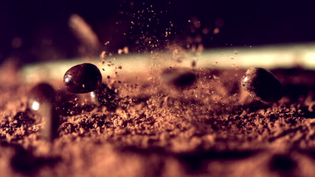coffee beans falling down - milk texture stock videos & royalty-free footage