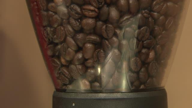 coffee beans in grinder - 挽く点の映像素材/bロール