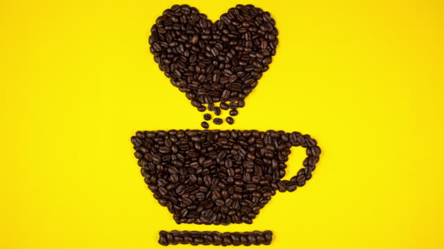 coffee beans of cup - roasted coffee bean stock videos & royalty-free footage