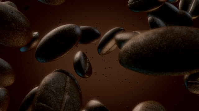 Coffee Beans Slow Motion