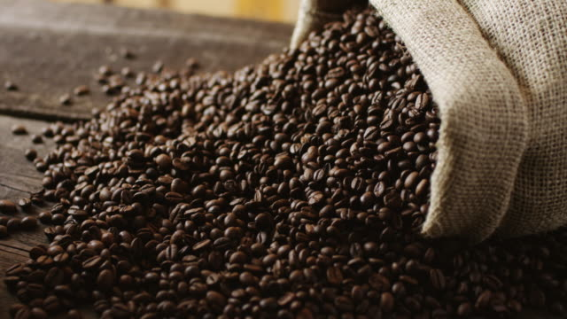 coffee beans - bag stock videos & royalty-free footage