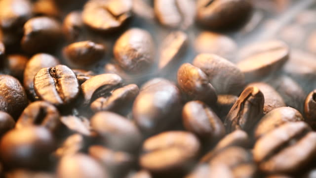 coffee beans with smoke - roasted stock videos & royalty-free footage