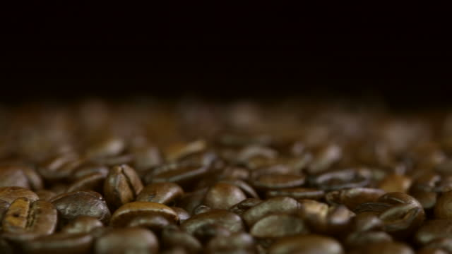 coffee beans with text space - drehen stock videos & royalty-free footage