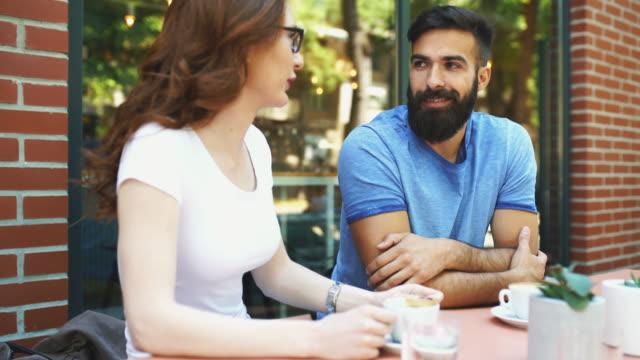 coffee break conversation. - redhead stock videos & royalty-free footage