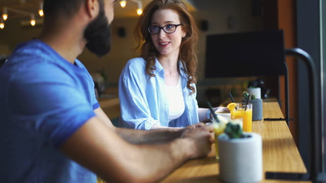 coffee break conversation. - two people stock videos & royalty-free footage