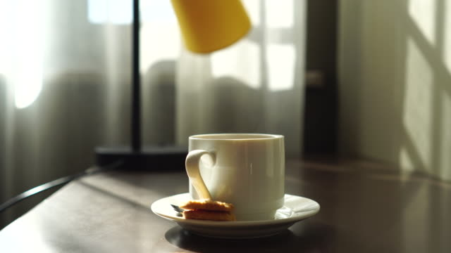 coffee break in sunlight - coffee break stock videos & royalty-free footage