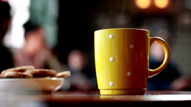 coffee break - yellow stock videos & royalty-free footage