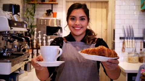 coffee & croissant - non alcoholic drink stock videos & royalty-free footage