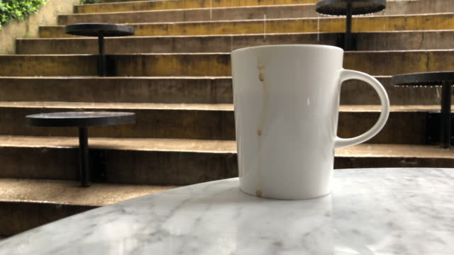 coffee cup and rain - marble stock videos & royalty-free footage