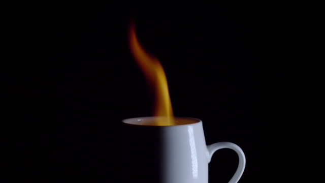 Coffee Cup on Fire
