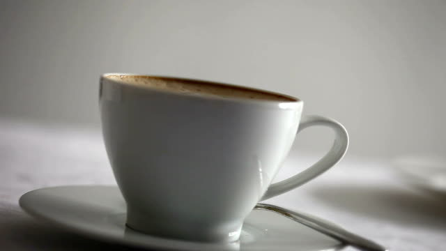 coffee cup... - froth art stock videos and b-roll footage