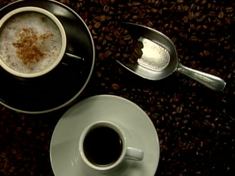 coffee cups - small group of objects stock videos & royalty-free footage
