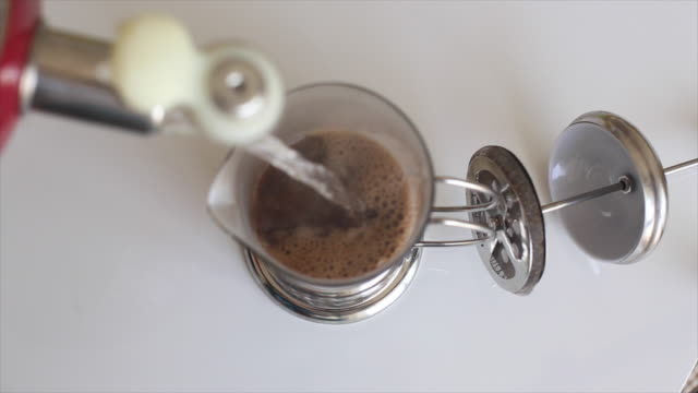 coffee drink from french press - coffee drink stock videos & royalty-free footage