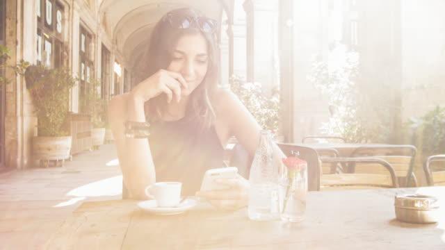 Coffee in a terrace bar