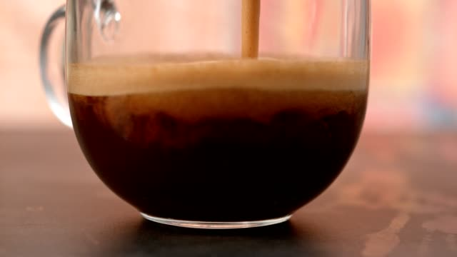 coffee in glass cup - aromatherapy stock videos & royalty-free footage