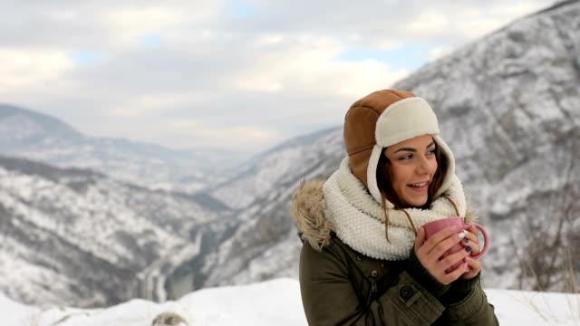 Coffee in winter