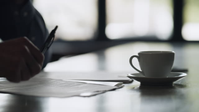 coffee is a writer's best friend - saucer stock videos & royalty-free footage