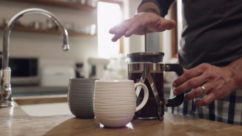 coffee is always a must - morning stock videos & royalty-free footage