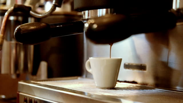 coffee is made on the espresso machine - routine stock videos & royalty-free footage