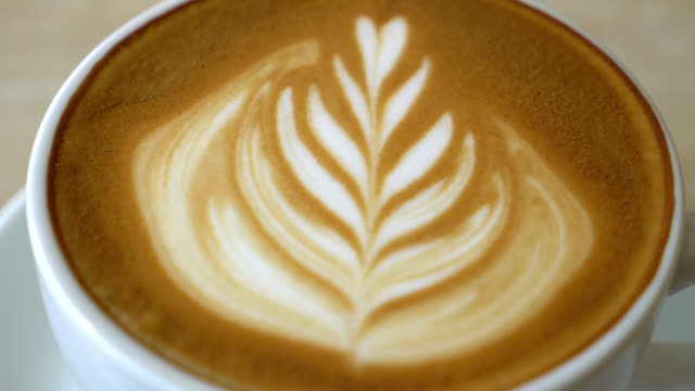 coffee latte art - latte stock videos and b-roll footage