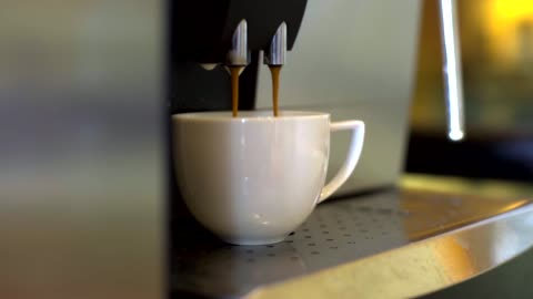coffee machine brewing hot fresh coffee. - pouring stock videos & royalty-free footage