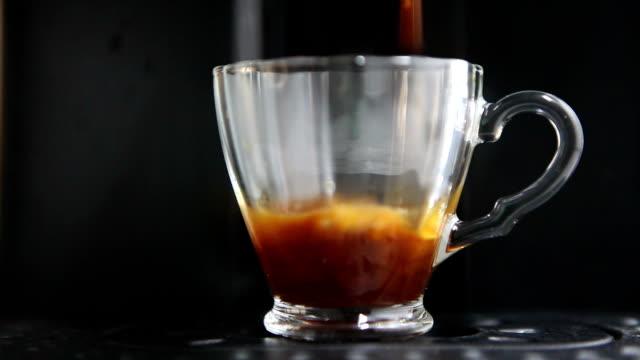 coffee machine - cafe macchiato stock videos and b-roll footage