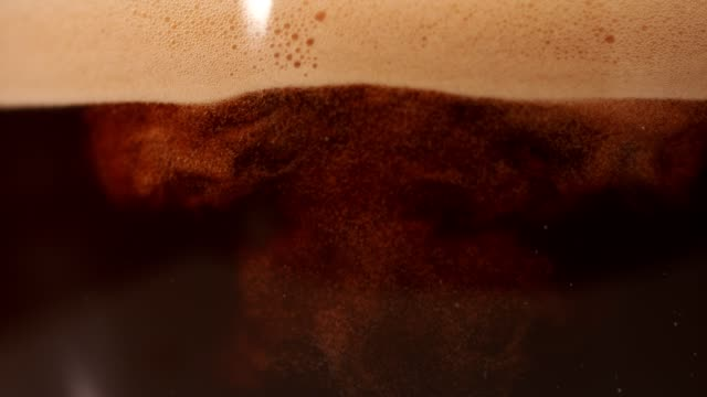 coffee mixing with milk. super slow motion. - mixing stock videos & royalty-free footage