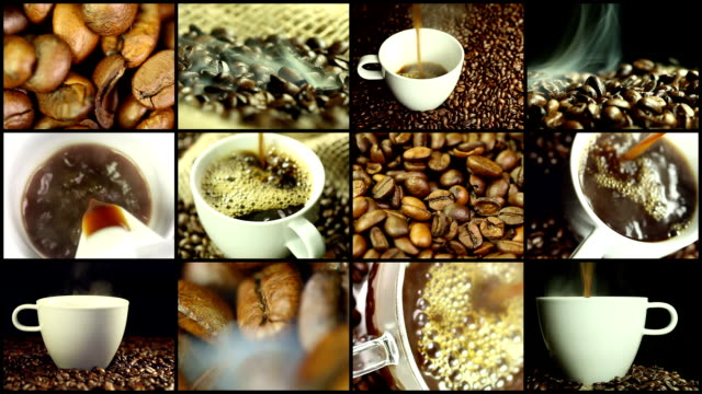caffè-montaggio - montaggio in sequenza video stock e b–roll