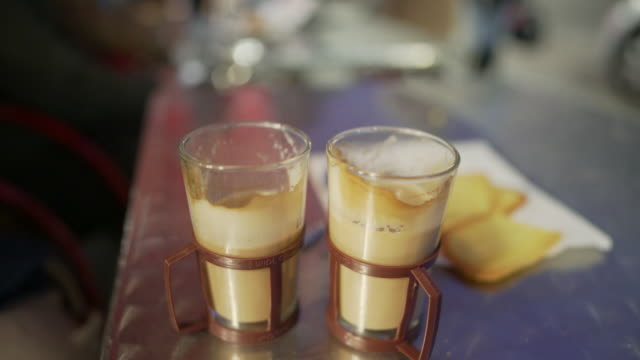 coffee on a table outside a cafe - notting hill videos stock videos & royalty-free footage