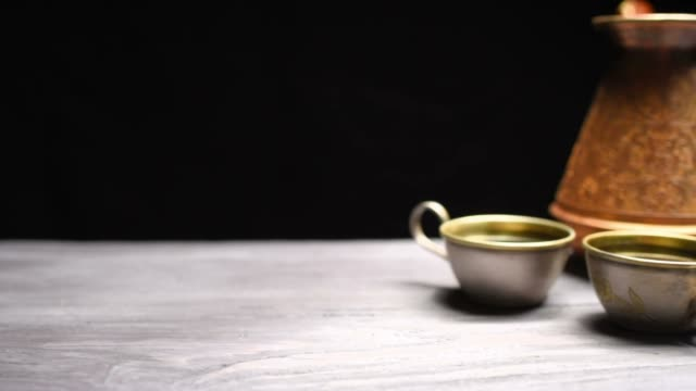 coffee on black background - coffee pot stock videos & royalty-free footage