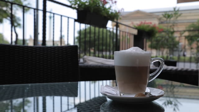 Coffee on Heroes Square, Budapest, Hungary, Europe