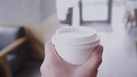 coffee, personal point of view - on the move stock videos & royalty-free footage