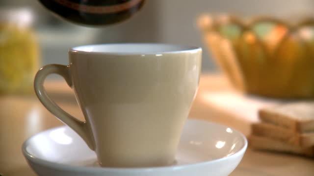 coffee pour - caffeine molecule stock videos & royalty-free footage