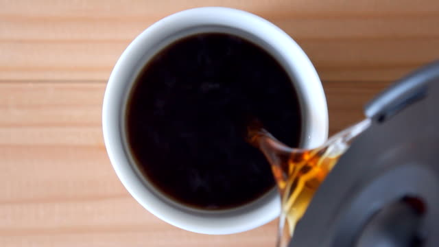 coffee pouring into a cup - mug stock videos and b-roll footage