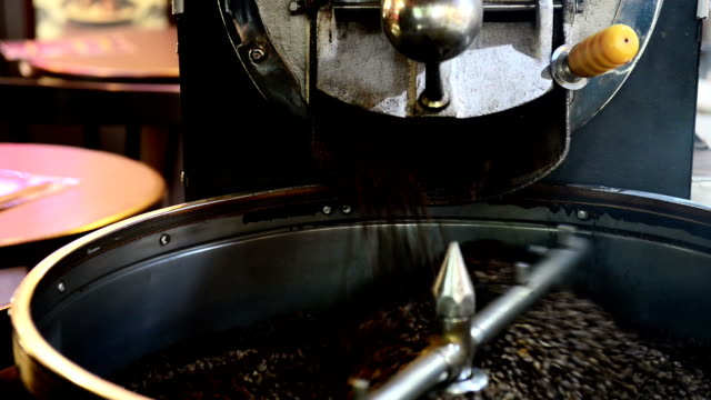 coffee roaster machine - roasted stock videos & royalty-free footage